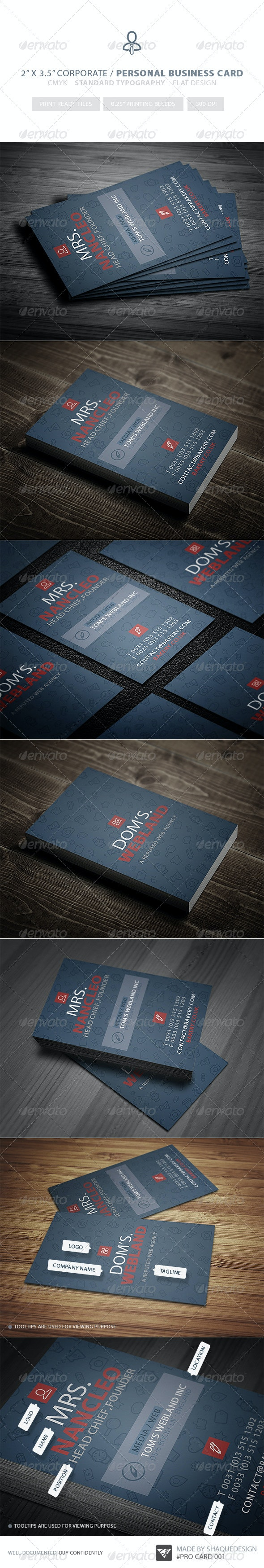 Corporate & Personal - Pro Business Card 001 - Corporate Business Cards