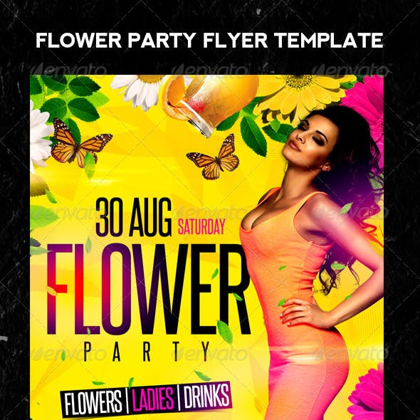 Flower Party Flyer