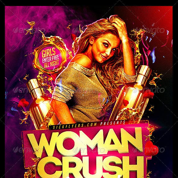 Women Crush Wednesdays Flyer Template