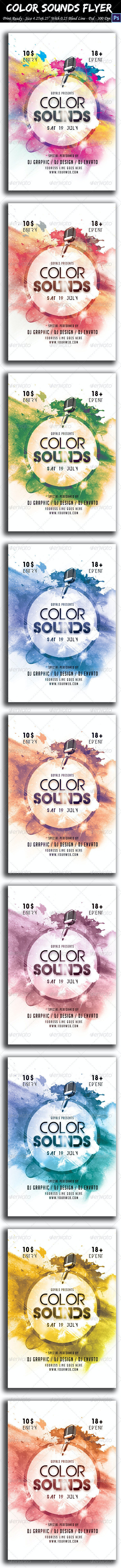 Color Sounds Flyer - Clubs & Parties Events