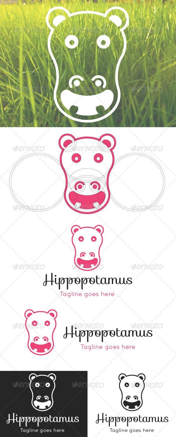 Hippopotamus Logo Template