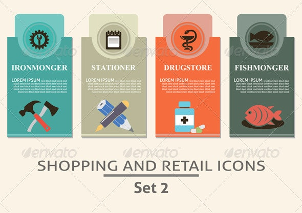 Shopping and Retail Labels - Commercial / Shopping Conceptual