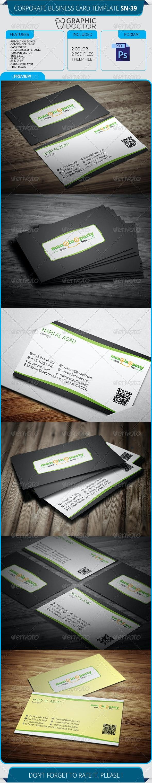 Corporate Business Card Template SN-39 - Corporate Business Cards