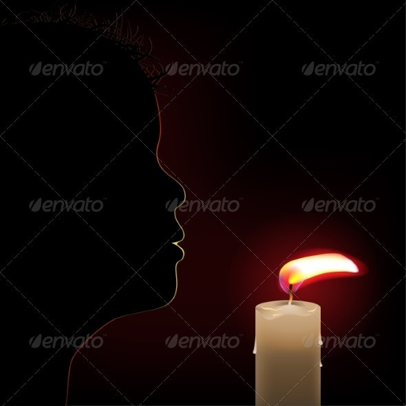 Burning Candle - Miscellaneous Vectors