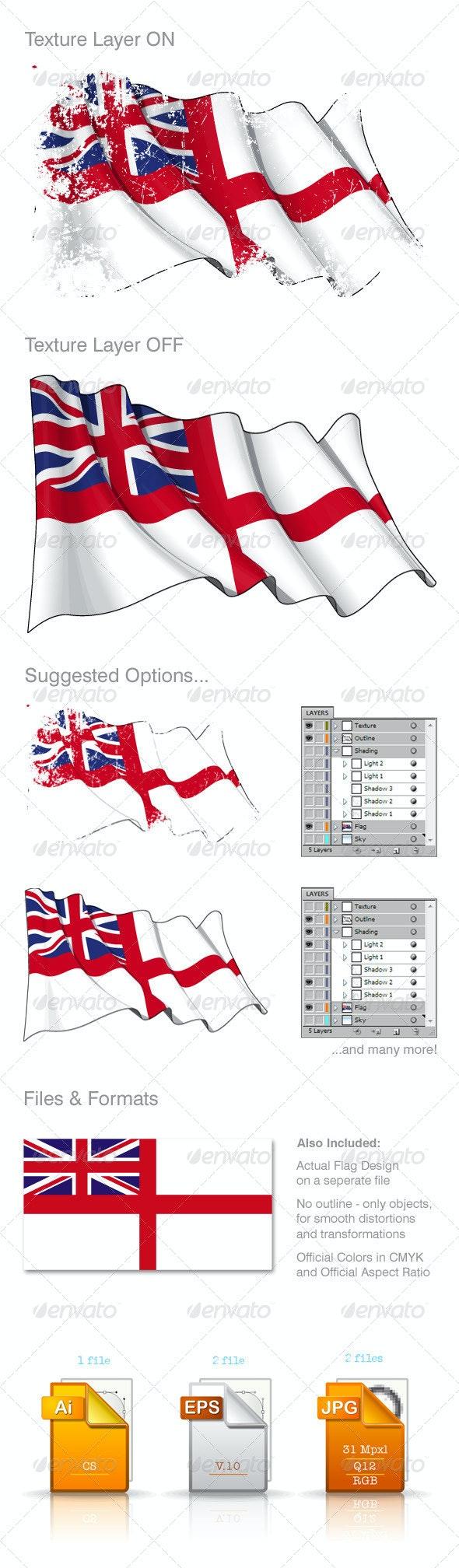 UK Naval Flag - Backgrounds Decorative