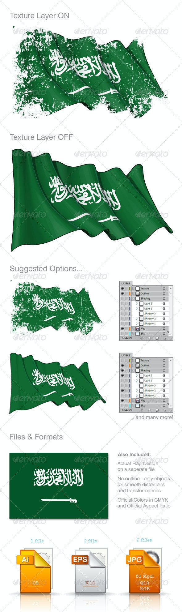 Saudi Arabia Flag - Backgrounds Decorative