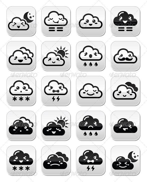 Kawaii Clouds - Nature Conceptual
