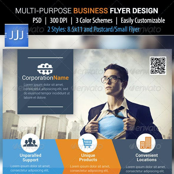 Business Flyer 39 with Postcard
