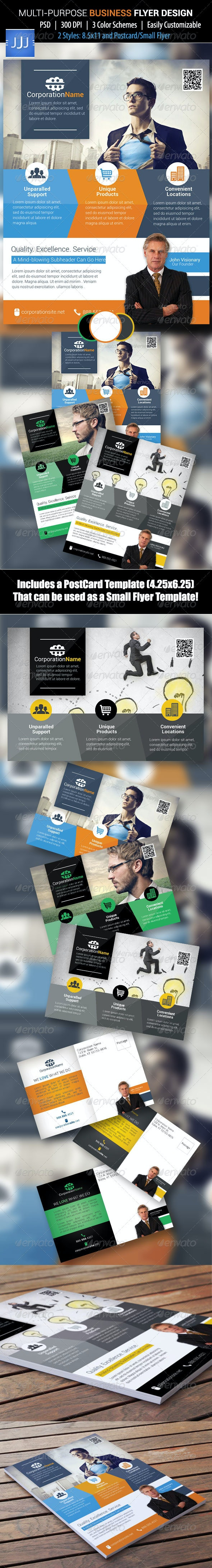 Business Flyer 39 with Postcard - Corporate Flyers