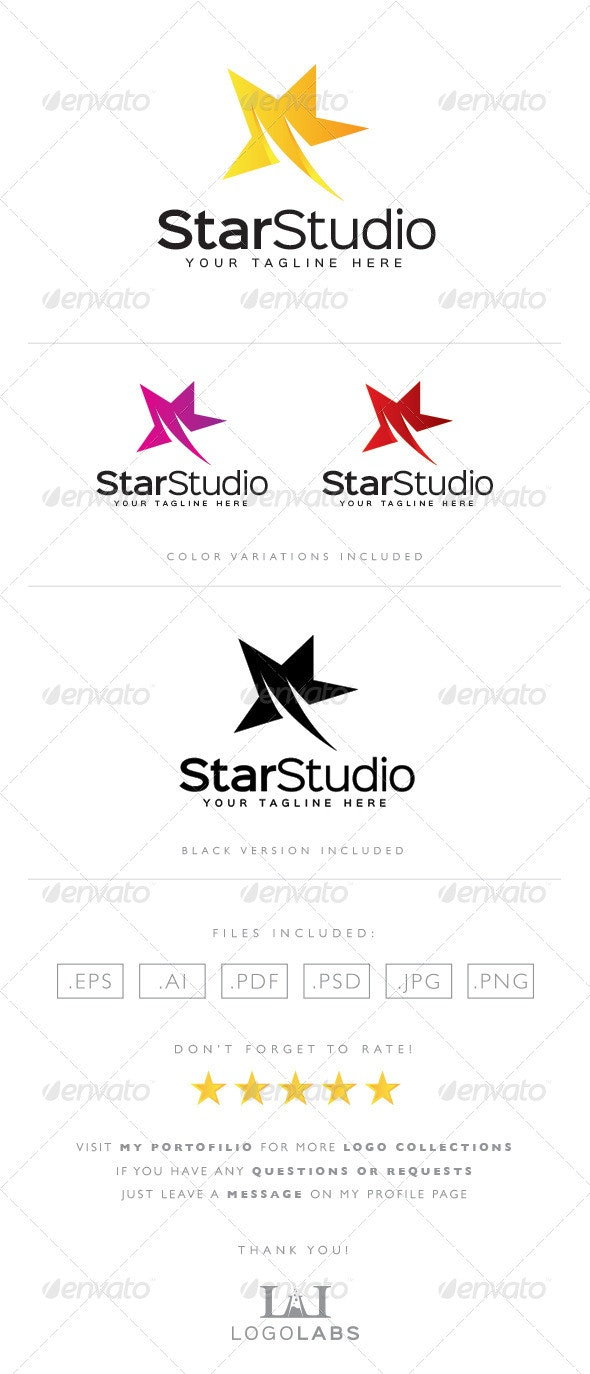 Star Studio Logo - Objects Logo Templates