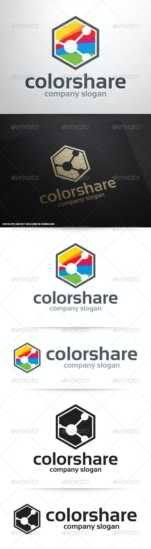 Color Share Logo Template