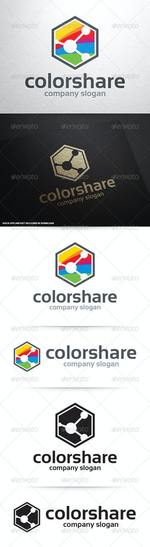 Color Share Logo Template - Symbols Logo Templates