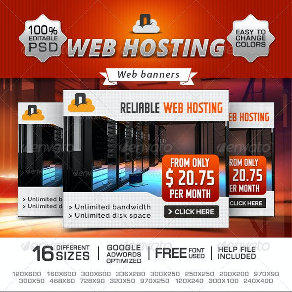 Web Hosting Promotional Banners
