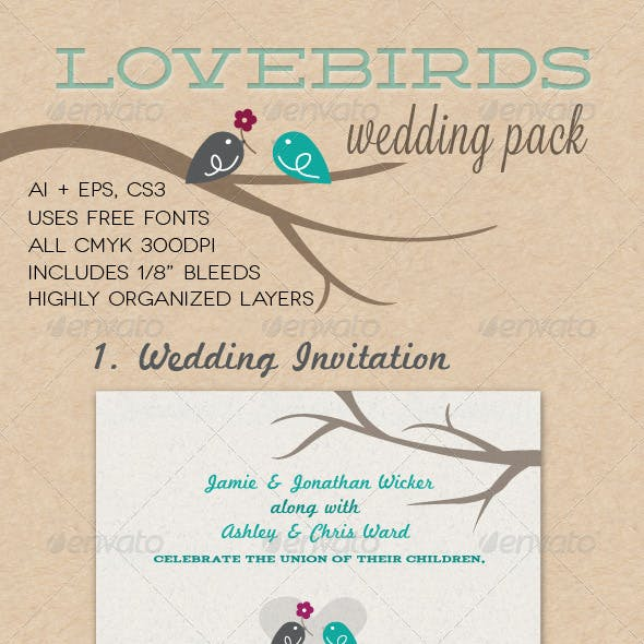 Lovebirds Wedding Pack