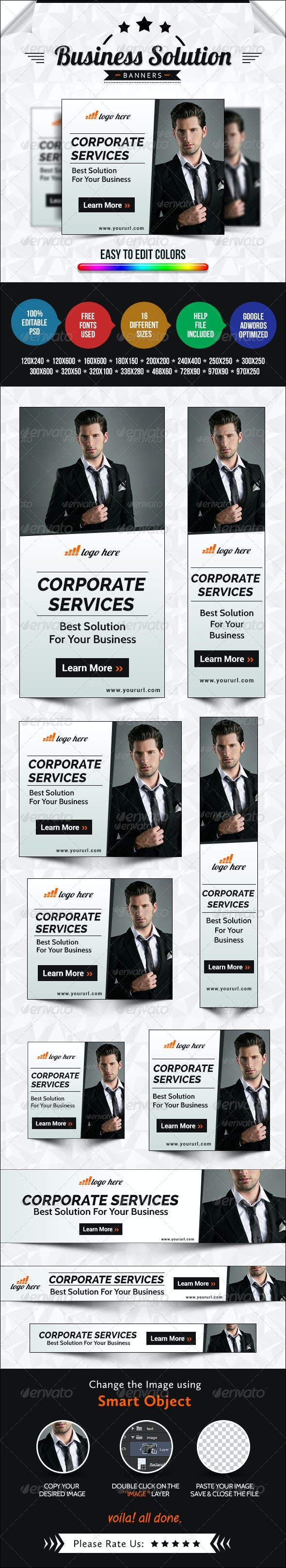Corporate Marketing Banners - Banners & Ads Web Elements