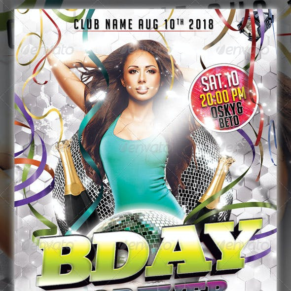 Bday Forever Party Flyer