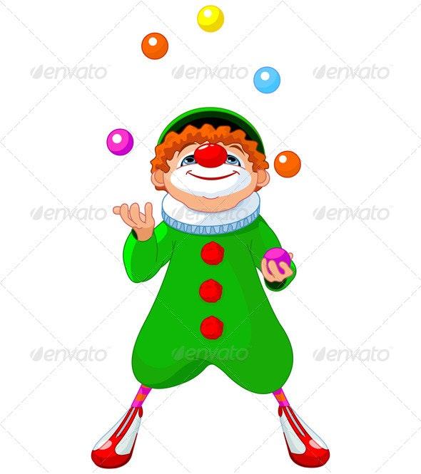 Juggling Clown - People Characters