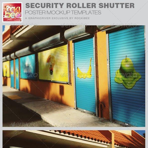 Security Roller Shutter Poster Mockup Templates