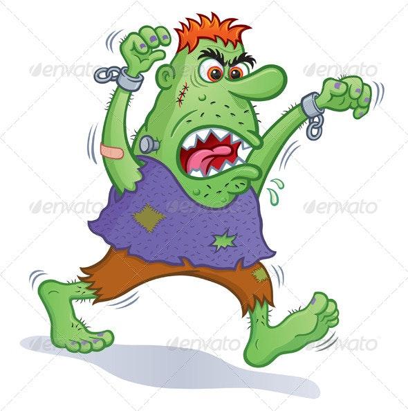 Angry Green Monster - Halloween Seasons/Holidays