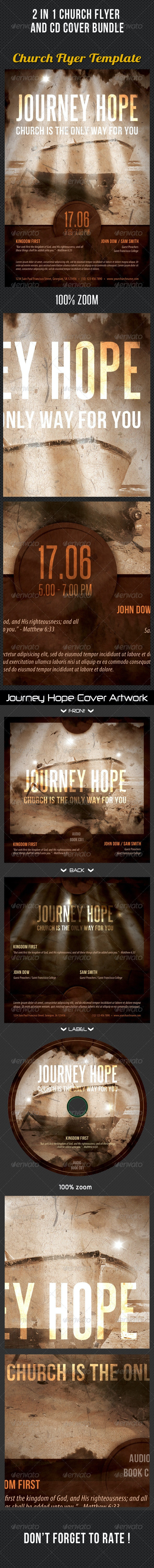 2 in 1 Church Flyer And CD Cover Bundle - Church Flyers