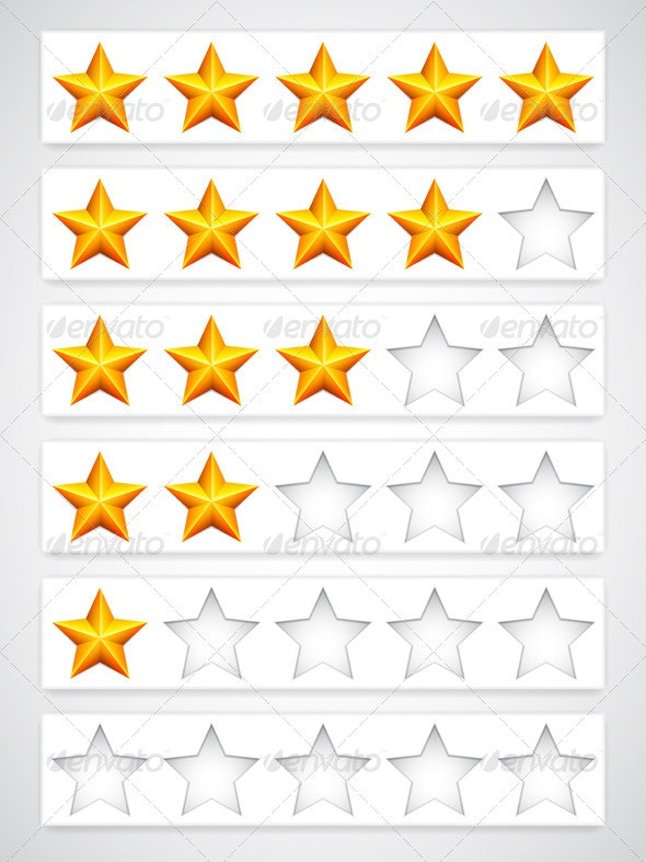 Rating Buttons - Web Elements Vectors