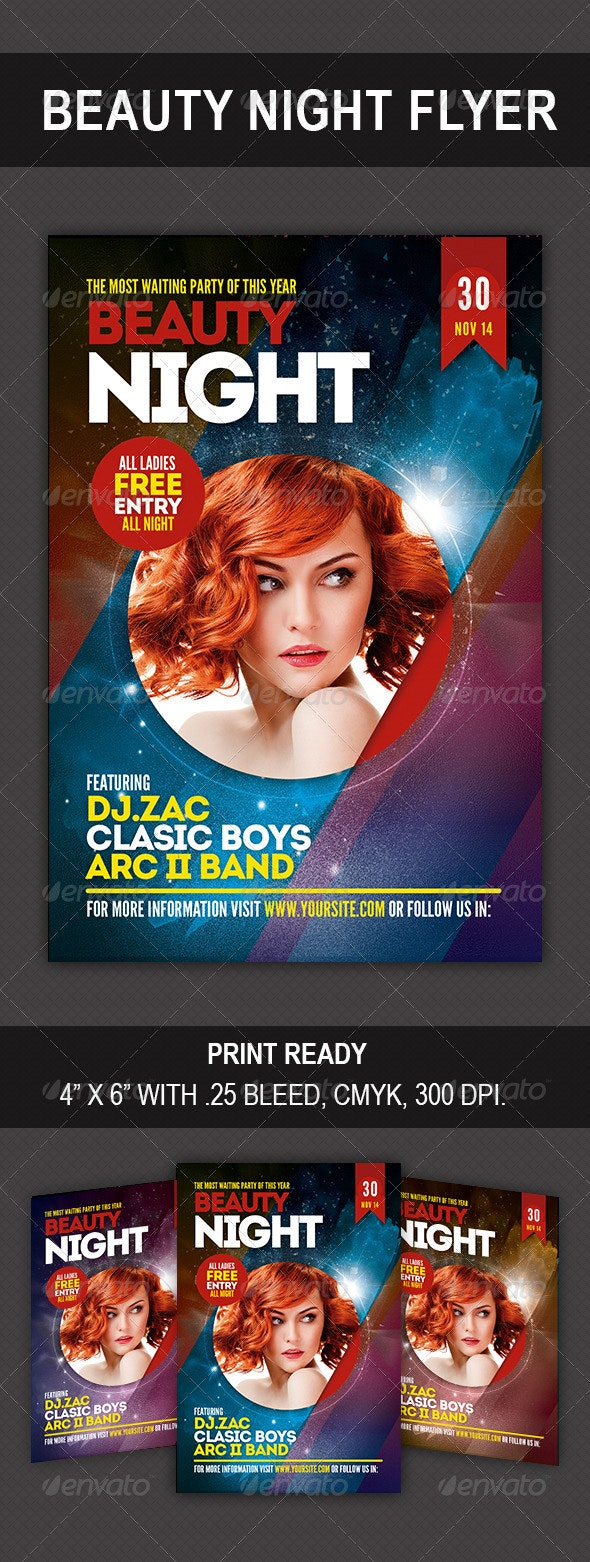 Beauty Night Flyer - Clubs & Parties Events