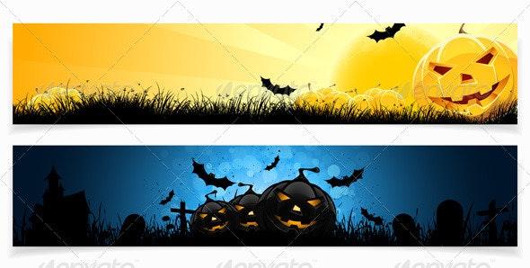 Set of Halloween Banners - Halloween Seasons/Holidays