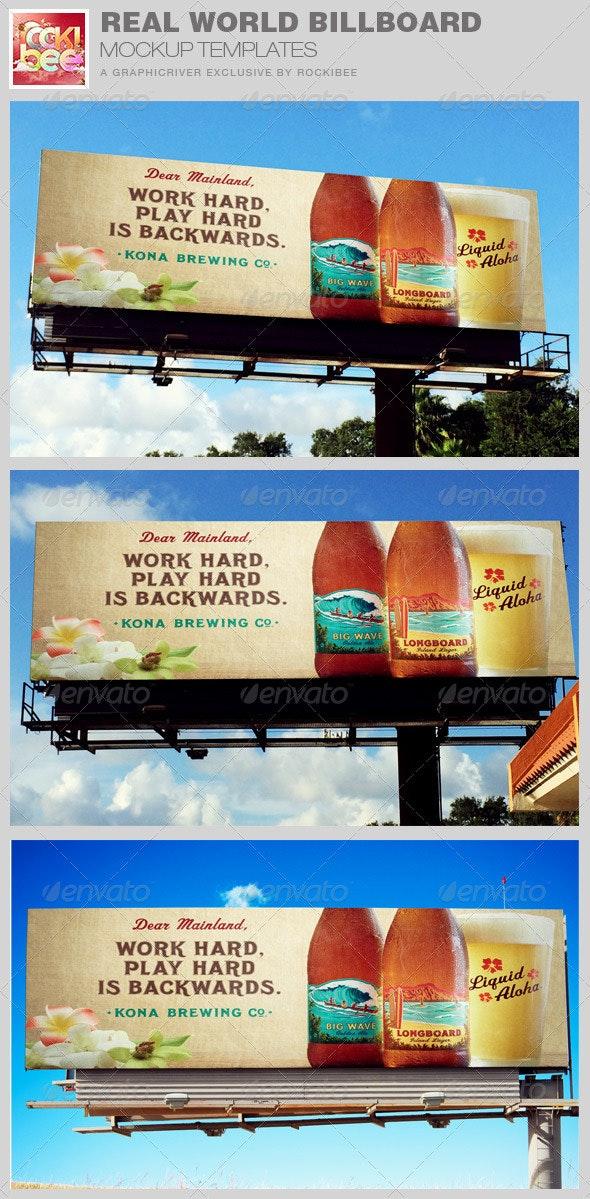 Real World Billboard Mockup Template - Signage Print