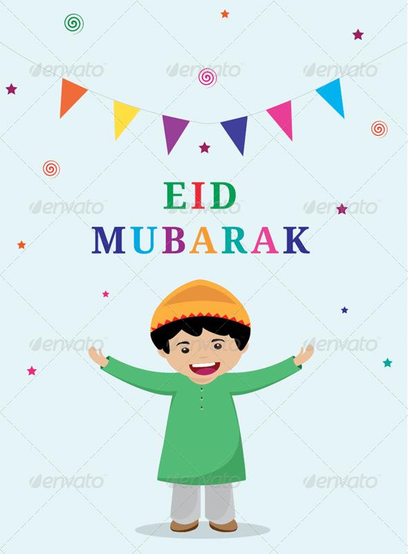 Eid Mubarak Friends - People Characters