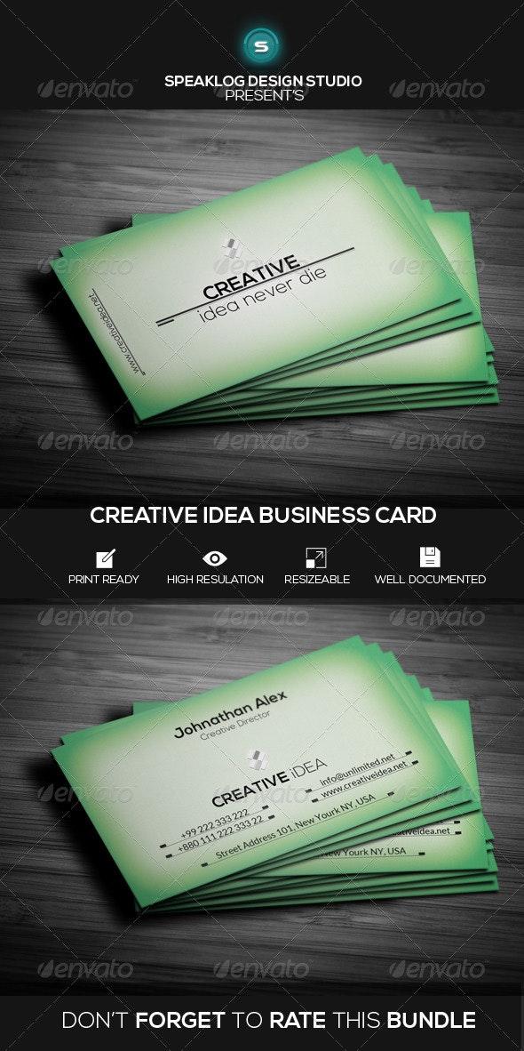 Creative Idea Business Card - Creative Business Cards