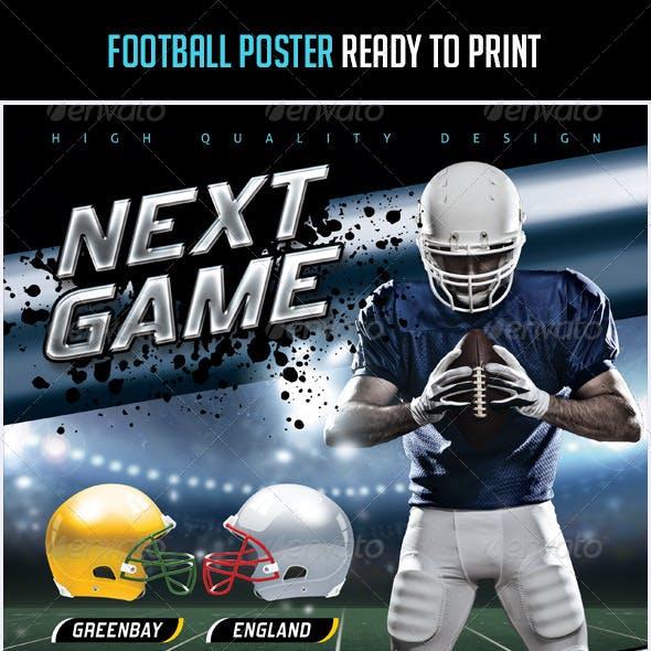 Modern Football Poster Template