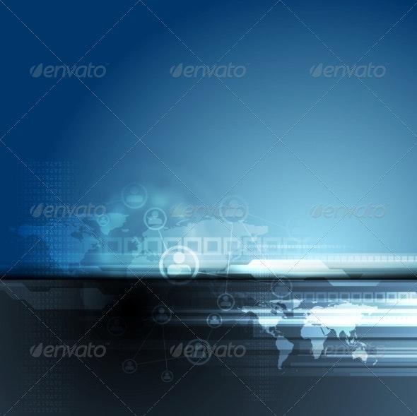 Dark Blue Team Concept Background - Web Technology