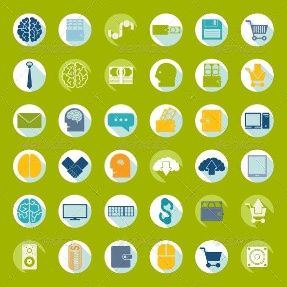 Set of Flat Icons - Decorative Symbols Decorative
