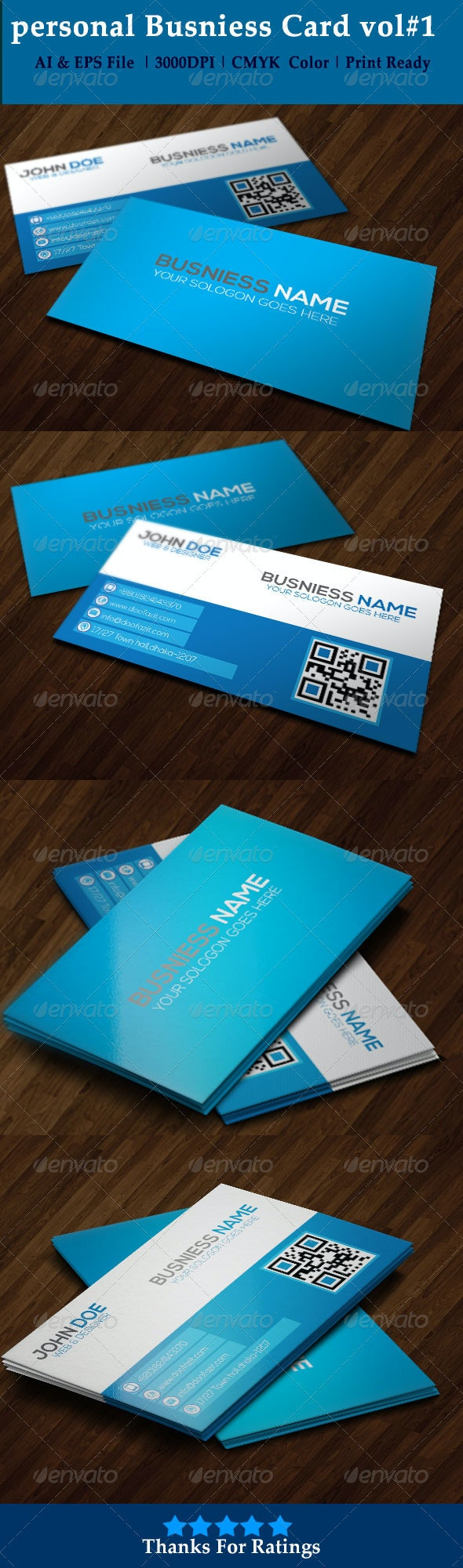 Personal Business Card Vol#1 - Creative Business Cards