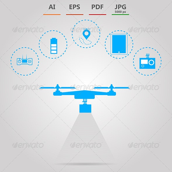 Illustration for Quadrocopter Monitoring  - Technology Conceptual