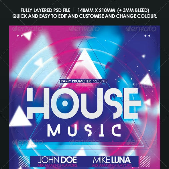 House Music Event Flyer | Poster
