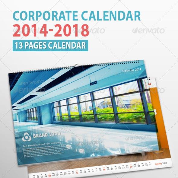 Corporate Wall Calendar 2014 - 2018