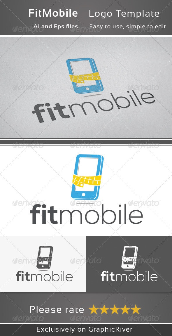 Fit Mobile - Objects Logo Templates