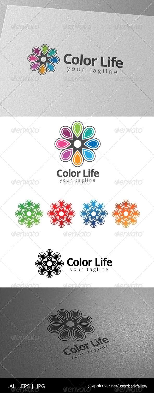 Eight Color Life Ornament Logo - Symbols Logo Templates