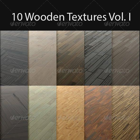 10 Wooden Floor Tileable Texture Vol. I