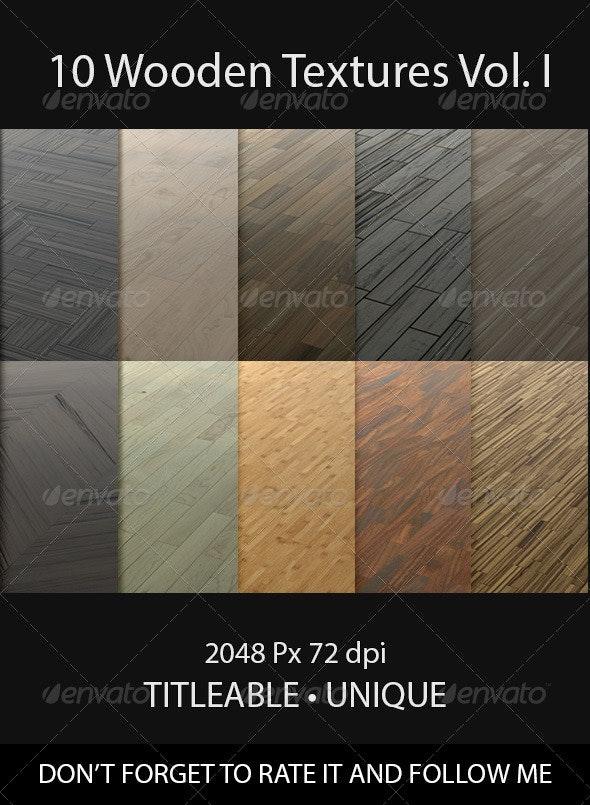 10 Wooden Floor Tileable Texture Vol. I - Wood Textures