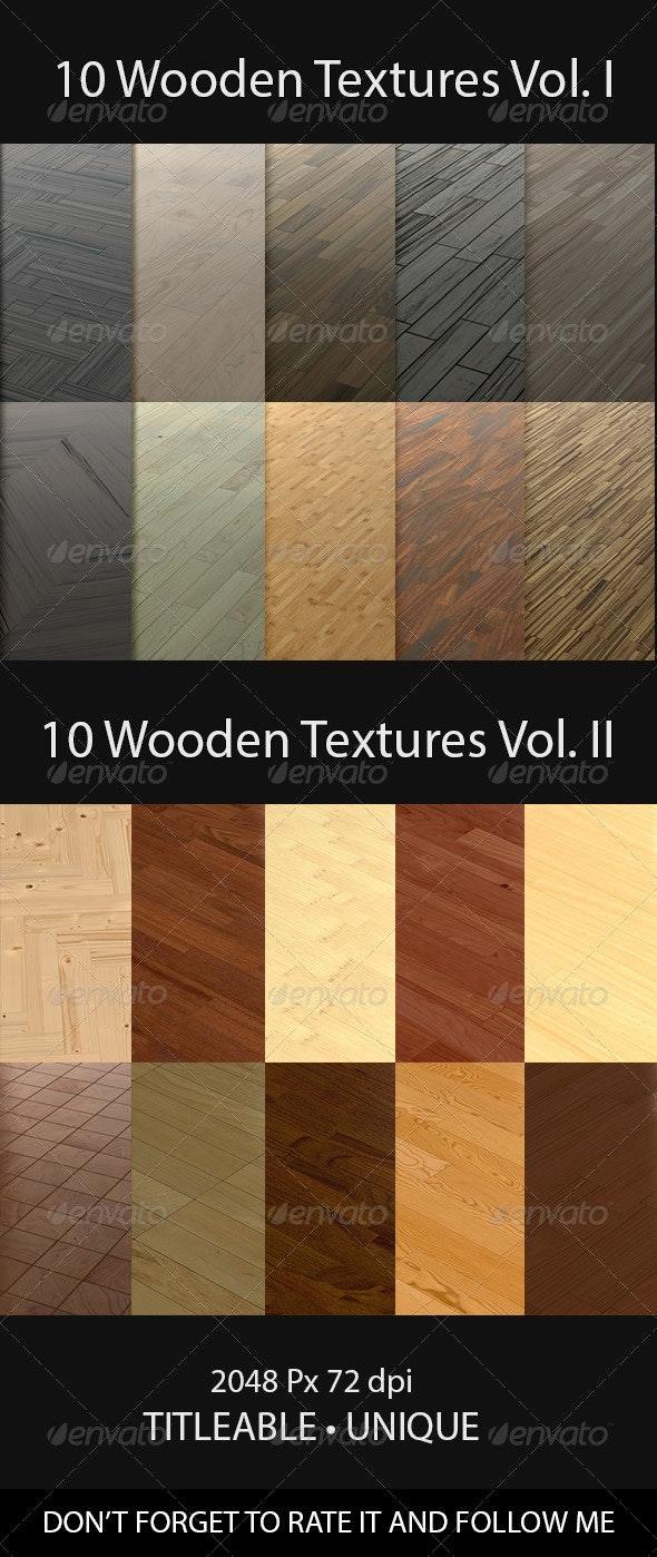 20 Wooden Floor Tileable Texture Vol. I & Vol. II - Wood Textures