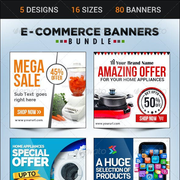 E-Commerce Banner Bundle - 5 sets