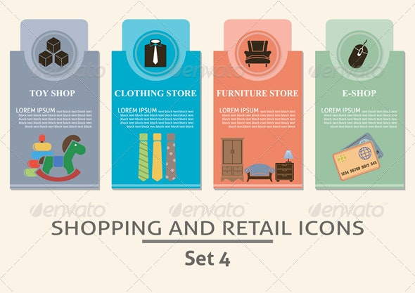 Shopping and Retail Labels - Business Conceptual