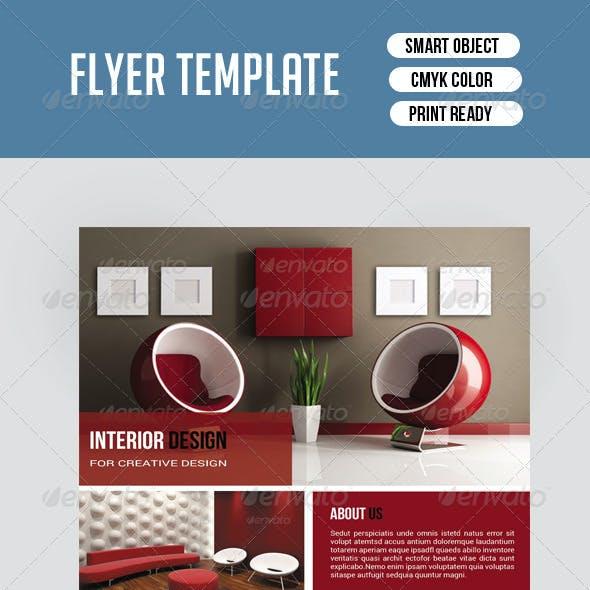 Flyer Template for Interior Design-V111