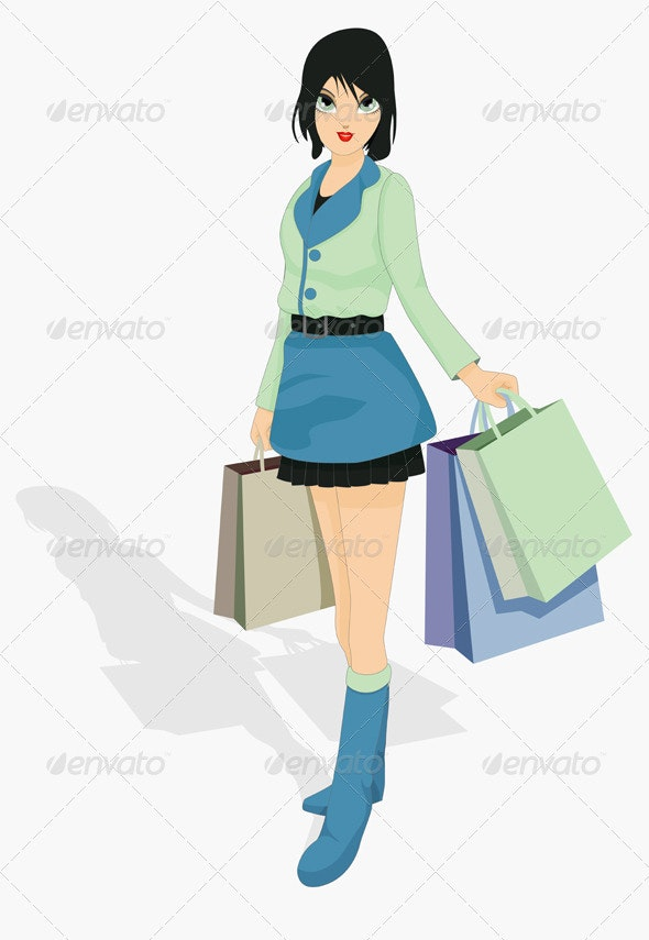 Woman Shopping - People Characters