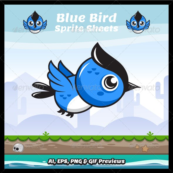 Game Character - Blue Bird Sprite Sheets