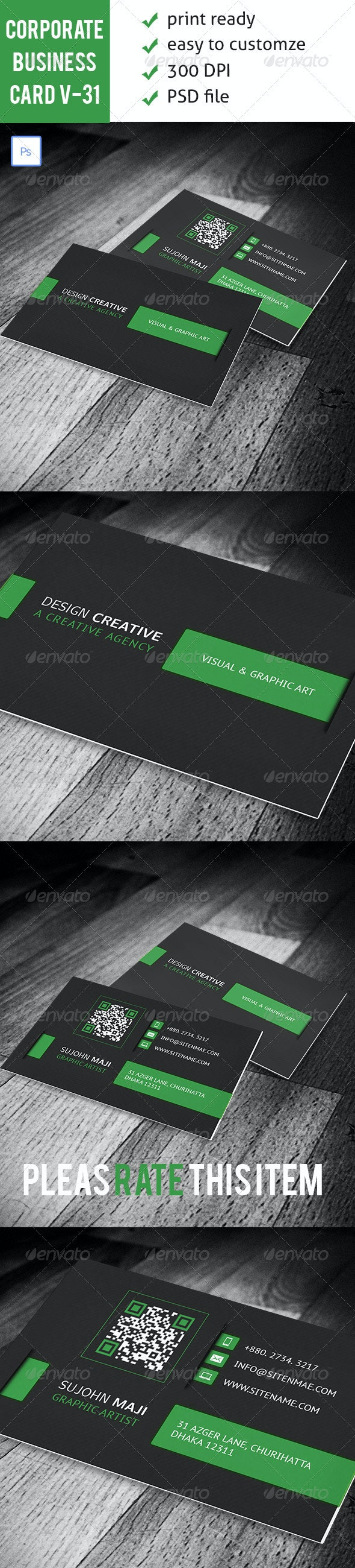 Corporate Business Card VO-31 - Corporate Business Cards