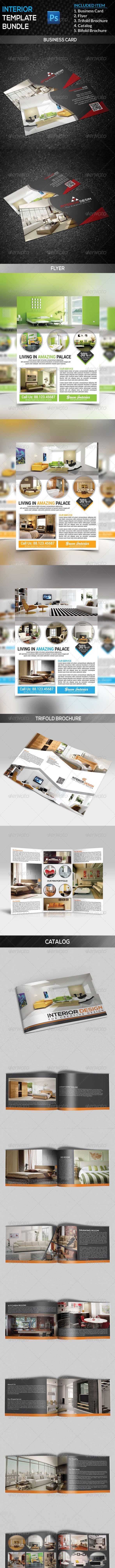 Interior Template Bundle - Corporate Brochures