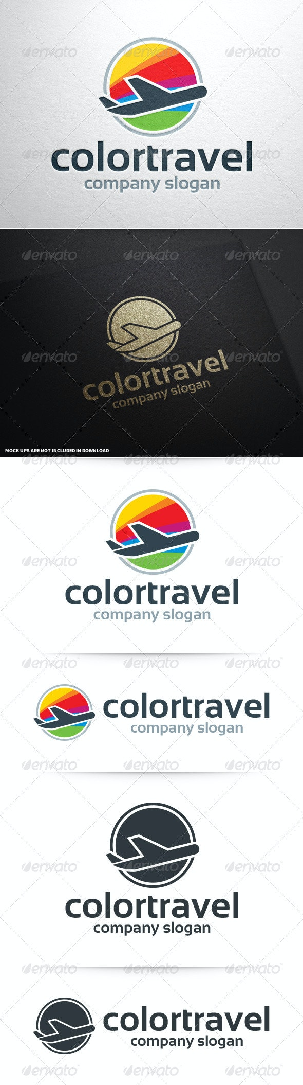 Color Travel Logo Template - Objects Logo Templates